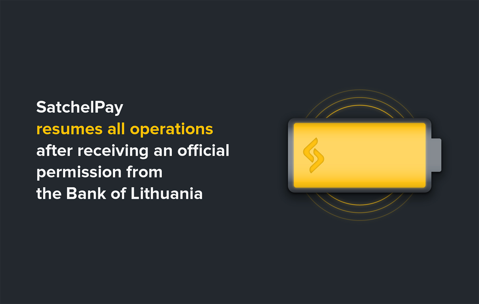 SatchelPay resumes all operations after receiving an official permission from the Bank of Lithuania